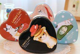 Wholesale Heart Tin Storage Box - Free Shipping New LANCY CAT heart-shaped tin  quality iron case   storage case   tin box wholesale