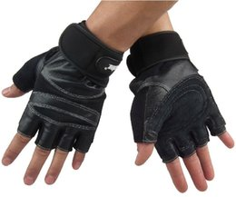 Wholesale Long Genuine Leather Gloves - Wholesale-genuine leather Fitness sports gym gloves Durable Non-slip with long Wrist protection exercise 3 color
