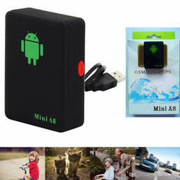 Wholesale Gps Tracking People - Brand Mini A8 Pets Kids Old People Global Locator GPS Personal Tracker GSM GPRS GPS Security Tracking Device free shipping
