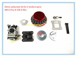 Wholesale Fuel Free Engine - High-performance 15mm Carburator Kit for 47cc 49cc 2-stroke engine, for 2 fuel hose, no leakage Free Shipping