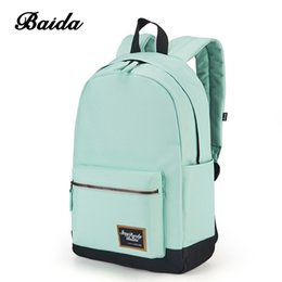 Wholesale Cool Dresses For Girls - BAIDA Fashion Backpack Women Leisure Travel Rucksacks for Girls Teenager Cool Contrast Color Preppy Style School Bag