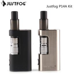 piles vape ouvertes Promotion Kit d'origine JUSTFOG P14A Kit de cigarette électronique Vape Kit 900mAh Batterie intégrée 1.9ml Tank Système d'ouverture pour enfants