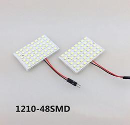 Wholesale led ba9s - 1210 48SMD LED 3528 White light led car lamp DC 12V Car Interior Dome Bulb T10 BA9S Dome Festoon lamps