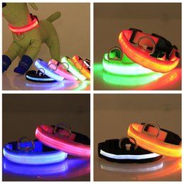 Wholesale Dog Collars Best Quality - 2.5cm Adjustable Best Quality LED Flashing Dog Collar , LED Pet Collar, Dog Collar 8 Colors and XS S M L XL size