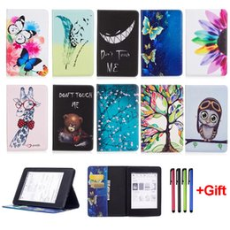 "Wholesale Kindle Tablets - Fashion Cartoon Case For Kindle Paperwhite 1 2 3 Kindle Fire 7 2015 Fire 7 2017 7.0"" Ebook Funda Tablet PU Leather Flip Stand Shell"
