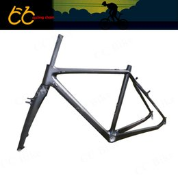 Wholesale Fork V Brake - Free Shipping 2015 Top Quality 700C Full Carbon V-brake Cyclocross Frame Road Bike Frame Including Front Fork CC-CR-027-V