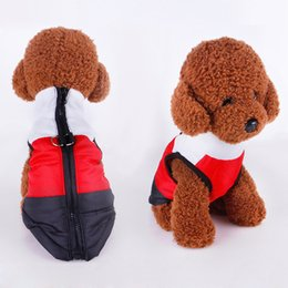 Wholesale Harness Jacket - Warm Winter Pet Dog Coat Jacket Clothes Vest Harness Puppy Apparel Small Dog Teddy Sweater Shirt Clothing Attire for Dogs Ropa Para Perros