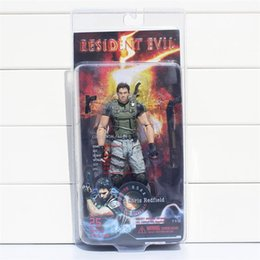 "Wholesale Neca Toys Wholesale - NECA Resident Evil 5 Chris Redfield PVC Action Figure Collectible Model Toy 7"" 18cm 5PCS Free shipping"
