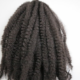 Wholesale brown crochet - Afro Kinky Marley Braids synthetic braiding Hair 20inch #2 Darkest Brown 100% Kanekalon Synthetic Crochet braids twist hair extensions