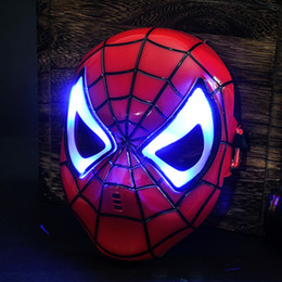 Wholesale Mask Spider Man Red - Spider-Man Mask party show props 2018 new HOT creative children's mask stalls wholesale toys free shipping