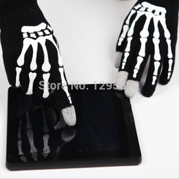 Wholesale Trendy Touch - Wholesale-1 pair Women Men Cool Trendy Attractive Touch Screen Riding Gloves Winter and Autumn Warm Mittens Free Shipping absPH