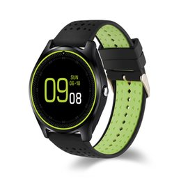 Wholesale Smart Phone Quad Band - V9 Smartwatch Phone 1.22 inch Quad Band Bluetooth Smart Wrist Watch Waterproof MTK6261 Camera Pedometer for Android IOS