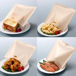 Wholesale Wholesale Toaster Bag - 17*19cm Teflon Cooking Bag Toaster Bag Microwave Oven Bag Not Sticky Toast Poke Toaster Bags Make A Perfect Toasted Sandwich By DHL