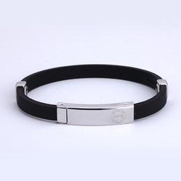 Wholesale Sports Magnetic Rubber Bracelets - Wholesale-DA54 Noproblem negative ion bio magnetic sports health popular adjustable personalized energy rubber bands fashion bracelet