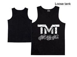 Wholesale Color Tank Tops For Men - Top new TMT loose vest Tank Men's brand printing vest fashion designer vest for mens tops silk tanks 9 style free shipping