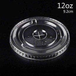 Wholesale clear plastic drinking cups - PET Cup Lids Cover 8oz-24oz Cross Opening Clear Drinking Lids Disposable for Coffee Cup Lids Online CK194