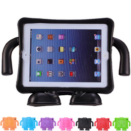 Wholesale Protection Trouser - Hot Selling Kids Safe Portable Shockproof Protection Case for Apple ipad 2 3 4 suspender trousers style EVA Foam Handle Stand
