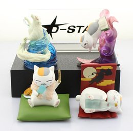 Wholesale Nyanko Model - Free Shipping Cute Natsume's Book of Friends Anime Natsume Yuujinchou Nyanko Sensei Ver. C PVC Figure Model Toy (4pcs per set)