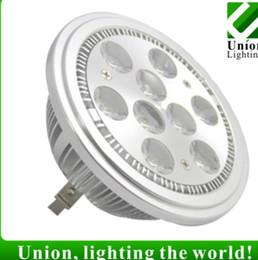 Lampe g53 ar111 en Ligne-HOT ar111 led g53 9w ar111 led lampe 950lm ac100-240v led spot light plafonnier Livraison gratuite