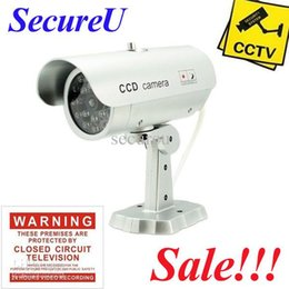 Wholesale Decoy Security Cameras - Free shipping cheapest emulational fake decoy dummy security surveillance CCTV outdoor bullet waterproof video monitor camera
