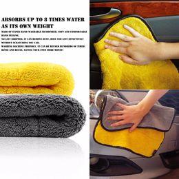 Wholesale Microfibre Face - 45cmx38cm Super Thick Plush Microfiber Car Cleaning Towel Cloths Car Care Microfibre Wax Polishing Detailing Towels Soft