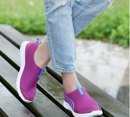 Wholesale Cheap Rubber Flooring Wholesale - 2015 Fashion Purple Women casual shoes Cheap Walking Men's flats Shoes men breathable Zapatillas Casual Shoes size 23-28.5cm High Quality