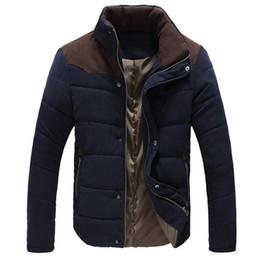 2016 Nueva chaqueta de los hombres de invierno Slim Fit Casual Coat Cálido chaqueta térmica acolchada Abrigo de algodón acolchado para hombres 5 Color Plus Tamaño: M-5XL desde fabricantes