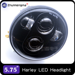 "Wholesale H4 Led High Low Beam - 5.75 Inch Motos Headlight Bulb 5 3 4"" High Low Beam H4 LED Headlamp Kit Driving Lights For Davidson Harley Daymaker Motorcycle"