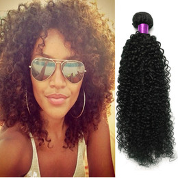 Wholesale Sexy Hair Extensions - Big Sale 5A Malaysian Virgin Hair Sexy Malaysian Kinky Curly Hair Wefts No Tangling Curly Malaysian Curly Hair Extensions Afro Kinky