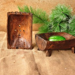 Wholesale Wooden Craft Boxes - Soap Container - New Arrival Soap Dish Creative Home Crafts Wooden Box Hotel Bathroom