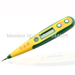Wholesale Ac Dc Track - AC DC High-grade Night Vision Multifunction Test Pencil Multifunction Digital Measuring 12-250V Free Shipping DB3088 order<$18no track