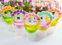 Wholesale Vegetables Baby - Baby food fruits and vegetables fun to eat fruit bite bite bite bite bags happy teether teething rings complementary fee