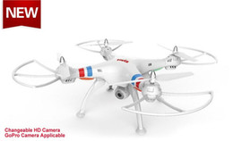 Wholesale Gopro Quad - SYMA X8C X5C X5 RC Drone Quadcopter with 2 Megapixels HD Camera GoPro Camera applicable Big Quad copter Hobby Helicopter vs DJI Phantom