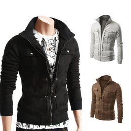 Wholesale Mens V Neck Fleece - New Fashion Hoodies Men Button Hip Hop Mens Brand Solid Hooded Zipper Hoodie Cardigan Sweatshirt Slim Fit Men Hoody 4XL