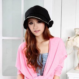 Wholesale Sun Hats Spots - Wholesale-new summer flowers ladies cloth hat sun hat straw hat beret factory wholesale spot
