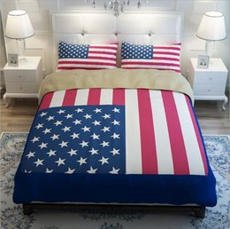 Usa Star Stripe Modern Bed Duvet Quilt Cover Pillow Cases Twin Full Queen King Size 3 4pcs Comforter Bedding Sets Home Textile From Dropshipping Suppliers