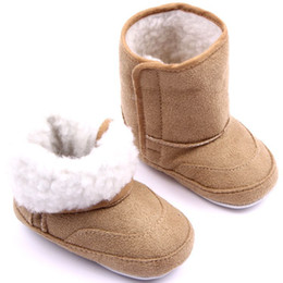 Wholesale Wholesale Blue Suede Shoe - Winter baby Suede plus thick snow Boots toddle infant kids boot children boots shoes
