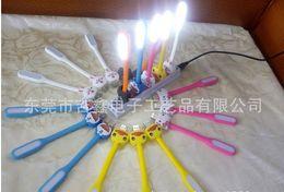 Wholesale Wholesale Minion Lamps - 2015 Cartoon LED Night Lights Minions Portable USB Interface Table Lamps Creative Mini 360 Degree Rotation Energy Conservation Night Lamps