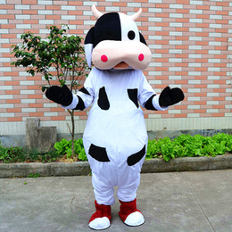 Wholesale Dress Carnival Animal - new best quality Cow fancy dress Costumes Mascot Performance Animal Explorer school mascots character adults costumes for guys