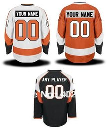 Wholesale Pls Hockey - Flyers customized   custom hockey jersey, orange, white, black colors, personalized jersey, pls read size chart before order