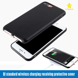 Wholesale Wireless Phone Charger Case - Qi Standard Wireless Receiver Charger Case Phone Protection for iPhone 6 7 Plus with Retail Package
