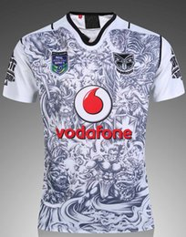 Wholesale Warriors Jersey Xl - 2017 Auckland Warriors rugby jerseys 17 top quality 9S men rugby shirts NZ Warriors shirts free shipping