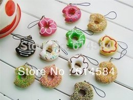 Wholesale Squishies Free Shipping - Wholesale-Free shipping have a bite cakes Squishy Buns cake Charms(5cm), Squishies Cell Phone Straps,50pcs lot,Wholesale