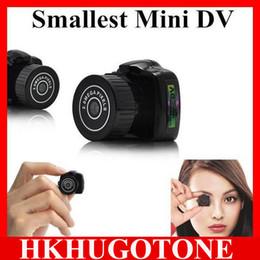Wholesale Dvr Smallest - Hot Sale Y2000 Mini HD Video Camera Small Mini Pocket DV DVR Camcorder Recorder Spy Hidden Web spy Cameras