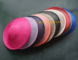 Wholesale Wholesale Binding - High quality sinamay binding large saucer sinamay base fascinator hat craft supply,for derby,Races,Party,wedding,diameter 33cm.