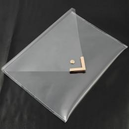 Wholesale Selling Transparent Bag - Wholesale-Women Unique Clear Envelope Clutch PVC Vinyl Studded Purse Classic Bag Simple and Stylish Handbag Transparent Hot Selling