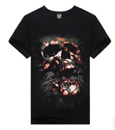 Wholesale Men Ribbed T Shirts - Men's Casual Short Sleeves luminous 3D T-shirt,Rib Bones Printing style 001