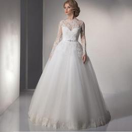 Wholesale Cheap Lace Gowns China - 2017 Sexy ball gown China Wedding Dresses A-Line Lace Romantic Plus Size Vintage Cheap vestido de noiva sereia