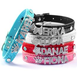 Wholesale Dog Hot Selling - Brand New 5 Colors Personalized Dog Collars for Puppy Customized Cheap Gator Skin Coro Pet Collars XS Small Medium Large sizes hot selling