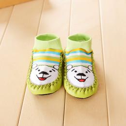 Wholesale Toddler Terry Socks - Wholesale-2015 Winter Baby Lovely Toddlers Terry Socks Skid Dispensing Floor Socks Infants Stereo Cartoon Socks Short Socks Bootie